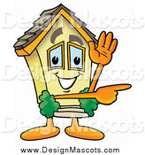 March 4th, 2014: Illustration of a House Mascot Waving and Pointing by Toons4Biz