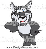 Illustration of a Husky Dog School Mascot Leaning by Toons4Biz