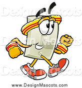Illustration of a Light Switch Mascot Speed Walking or Jogging by Toons4Biz