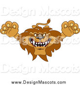Illustration of a Lion Mascot Lunging Forward by Toons4Biz