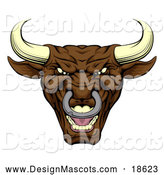January 31st, 2018: Illustration of a Mad Brown Bull Mascot by AtStockIllustration