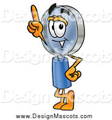 Illustration of a Magnifying Glass Design Mascot with an Idea by Toons4Biz