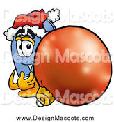 Illustration of a Mailbox Mascot with a Christmas Bauble by Toons4Biz
