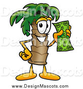 October 31st, 2014: Illustration of a Palm Tree Mascot Holding Cash by Toons4Biz