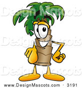 Illustration of a Palm Tree Mascot Pointing at the Viewer by Toons4Biz