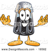 Illustration of a Pepper Shaker Mascot with Welcoming Open Arms by Toons4Biz