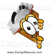 Illustration of a Pill Bottle Mascot Peeking Around a Corner by Toons4Biz