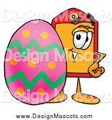 February 22nd, 2014: Illustration of a Price Tag Mascot and Easter Egg by Toons4Biz