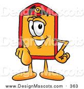 Illustration of a Price Tag Mascot Pointing at the Viewer by Toons4Biz