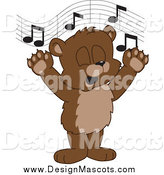 February 26th, 2014: Illustration of a Singing Bear Cub School Mascot by Toons4Biz