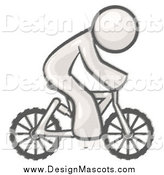 Illustration of a Sketched Design Mascot Man Riding a Bicycle to Save Money on Gas by Leo Blanchette