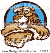 Illustration of a Smiling Cougar Mascot with Crossed Arms by Chromaco