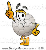 Illustration of a Soccer Ball Mascot with an Idea by Toons4Biz