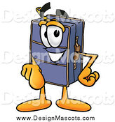Illustration of a Suitcase Mascot Pointing at the Viewer by Toons4Biz