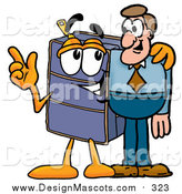 September 18th, 2015: Illustration of a Suitcase Mascot Talking to a Business Man by Toons4Biz