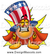 March 10th, 2014: Illustration of a Super Uncle Sam Mascot by Toons4Biz