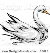 Illustration of a Swan Bird Mascot by BNP Design Studio