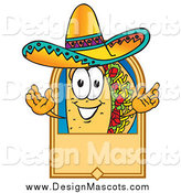 Illustration of a Taco Mascot Label by Toons4Biz