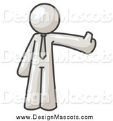 May 12nd, 2014: Illustration of a White Business Man Holding a Thumb up by Leo Blanchette