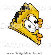 Illustration of a Yellow Admission Ticket Mascot Cartoon Character Looking Around a Corner by Toons4Biz