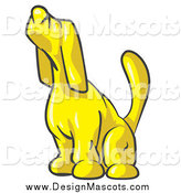 February 21st, 2014: Illustration of a Yellow Hound Dog Howling or Sniffing the Air by Leo Blanchette