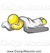 August 3rd, 2014: Illustration of a Yellow Man Sleeping on the Floor by Leo Blanchette
