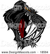 January 31st, 2018: Illustration of an Aggressive Black Saber Toothed Panther Mascot by Chromaco