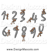 Illustration of Brown Men with Numbers by Leo Blanchette