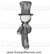 Royalty-Free (RF) Clipart Illustration of a White Man Abraham Lincoln by Leo Blanchette