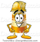 Stock Mascot Cartoon of a Barrel Mascot and Hardhat by Toons4Biz