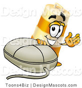 Stock Mascot Cartoon of a Barrel Mascot and Mouse by Toons4Biz