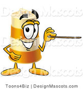Stock Mascot Cartoon of a Barrel Mascot and Pointer by Toons4Biz