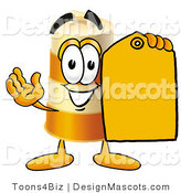 Stock Mascot Cartoon of a Barrel Mascot and Tag by Toons4Biz
