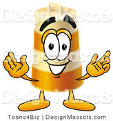 Stock Mascot Cartoon of a Barrel Mascot by Toons4Biz