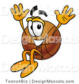 Stock Mascot Cartoon of a Basketball Mascot Cartoon Character by Toons4Biz