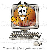 Stock Mascot Cartoon of a Basketball Mascot Online by Toons4Biz