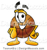 Stock Mascot Cartoon of a Basketball Mascot Pointing at the Viewer by Toons4Biz