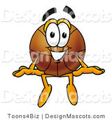 Stock Mascot Cartoon of a Basketball Mascot Sitting by Toons4Biz