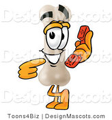 Stock Mascot Cartoon of a Bone Mascot Calling by Toons4Biz