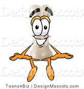 Stock Mascot Cartoon of a Bone Sitting by Toons4Biz
