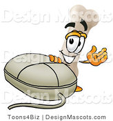 Stock Mascot Cartoon of a Computer Mouse and Bone Mascot by Toons4Biz
