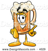 Stock Mascot Cartoon of a Friendly Beer Mug Mascot Cartoon Character Pointing at the Viewer by Toons4Biz