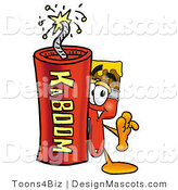 Stock Mascot Cartoon of a Paintbrush Mascot and Dynamite by Toons4Biz