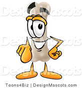 Stock Mascot Cartoon of a Smiling Bone Mascot Cartoon Character Pointing at the Viewer by Toons4Biz