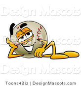 Stock Vector Mascot Cartoon of a Baseball Mascot Resting His Head on His Hand by Toons4Biz