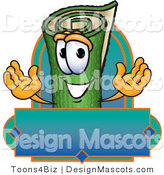 Stock Vector Mascot Cartoon of a Carpet and Blue Banner by Toons4Biz