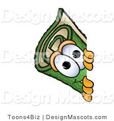 Stock Vector Mascot Cartoon of a Carpet Looking Around a Corner by Toons4Biz