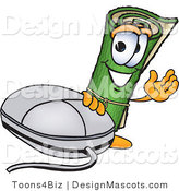 Stock Vector Mascot Cartoon of a Carpet Mascot with a Computer Mouse by Toons4Biz