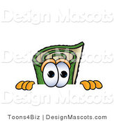 Stock Vector Mascot Cartoon of a Carpet Peeking over a Surface by Toons4Biz