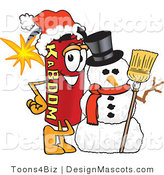 Stock Vector Mascot Cartoon of a Christmas Dynamite Mascot by Toons4Biz